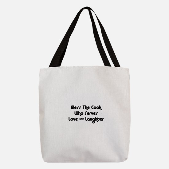 FIN-cook-love-laughter.png Polyester Tote Bag