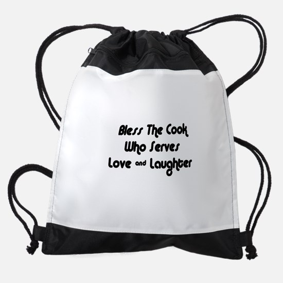 FIN-cook-love-laughter.png Drawstring Bag