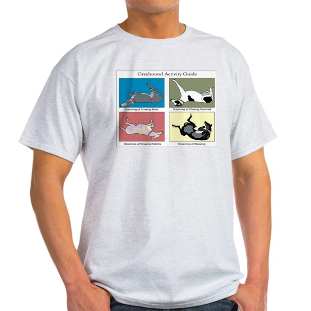 Greyhound Activity Guide Ash Grey Light T-Shirt Greyhound ...