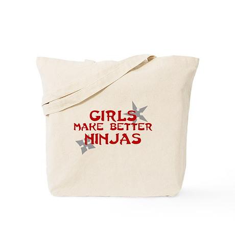 Girls make better ninjas Tote Bag