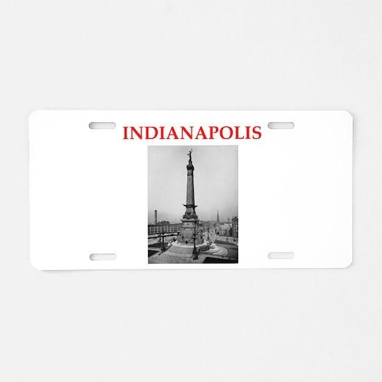 indianapolis Aluminum License Plate