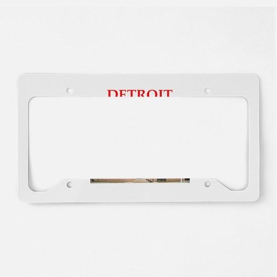 detroit License Plate Holder
