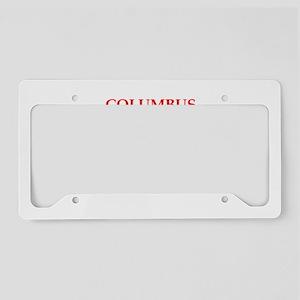 columbus License Plate Holder