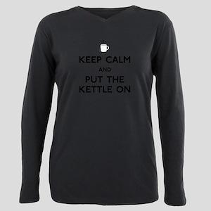 FIN-keep-calm-kettle-on Plus Size Long Sleeve