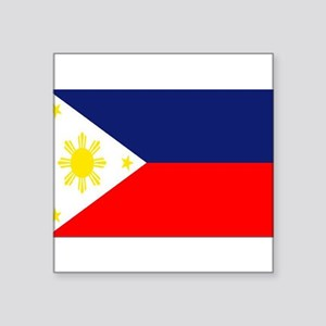 PHILIPPINE ISLAND FLAG Rectangle Sticker