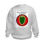24TH INFANTRY DIVISION Kids Sweatshirt
