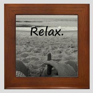 Life is a Beach Framed Tile