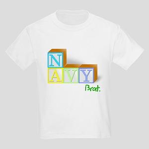 Navy Brat's Playing Blocks Kids T-Shirt