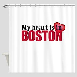 My heart is in Boston Shower Curtain