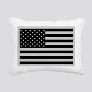 Subdued US Flag Tactical Rectangular Canvas Pillow