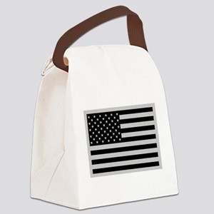 Subdued US Flag Tactical Canvas Lunch Bag