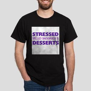 FIN-stressed-backwards-desserts Dark T-Shirt