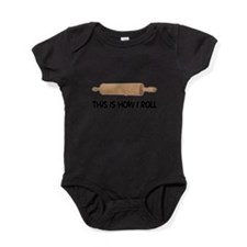 FIN-how-i-rolling-pin Baby Bodysuit