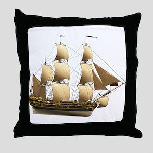 Ship 1 Throw Pillow
