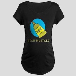 FIN-team-mustard Maternity Dark T-Shirt