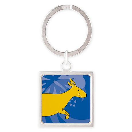 Kangaroo Square Keychain