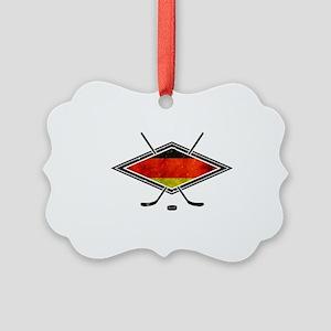 Eishockey Deutsche Flag Ornament