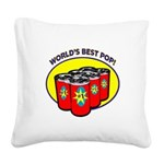 Father's Day Square Canvas Pillow