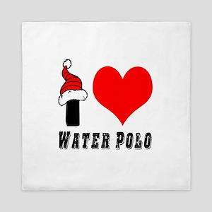 I Love Water Polo Queen Duvet