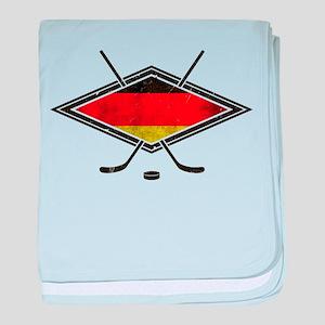 Eishockey Deutsche Flag baby blanket