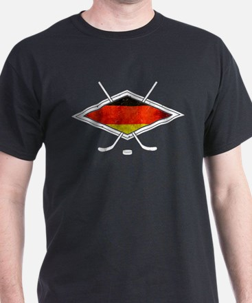 Eishockey Deutsche Flag T-Shirt