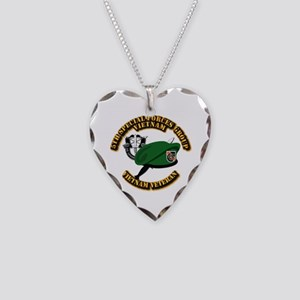 SOF - 5th SFG Dagger - DUI Necklace Heart Charm