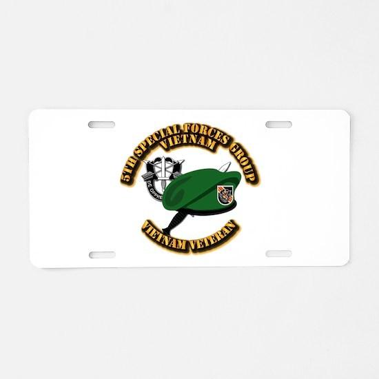 SOF - 5th SFG Dagger - DUI Aluminum License Plate