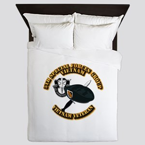 SOF - 5th SFG Dagger - DUI V2 Queen Duvet