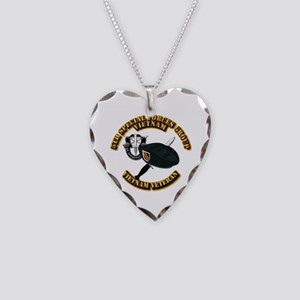 SOF - 5th SFG Dagger - DUI V2 Necklace Heart Charm