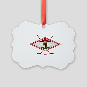 Magyar Jégkorong Hockey Flag Ornament