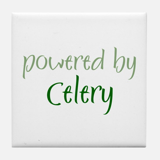 Powered By celery Tile Coaster