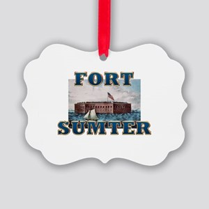 ABH Fort Sumter Picture Ornament