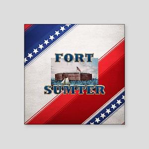"ABH Fort Sumter Square Sticker 3"" x 3"""