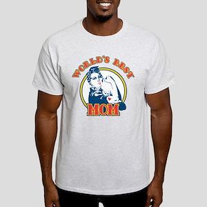 Rosie Riveter Best Mom Light T-Shirt