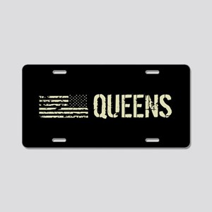 Black Flag: Queens Aluminum License Plate