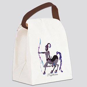 Starlight Sagittarius Canvas Lunch Bag