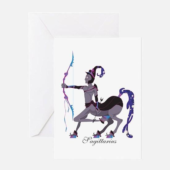 Starlight Sagittarius Greeting Card