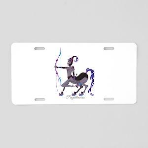 Starlight Sagittarius Aluminum License Plate