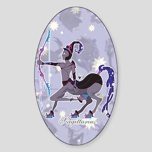 Starlight Sagittarius Sticker (Oval)