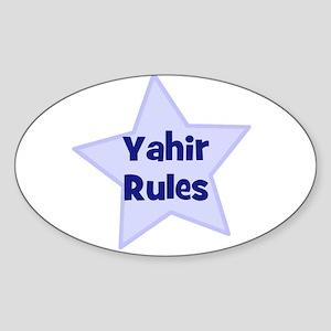 Yahir Rules Oval Sticker