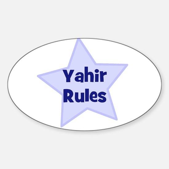 Yahir Rules Oval Decal