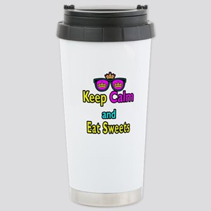 Crown Sunglasses Keep Calm And Eat Sweets Stainles