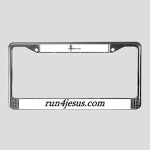 run4jesus.com License Plate Frame