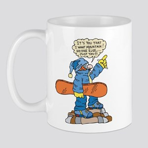 Funny Snowboarder Mug