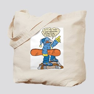 Funny Snowboarder Tote Bag