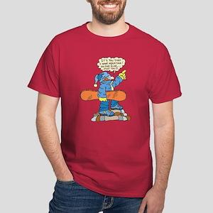 Funny Snowboarder  Dark T-Shirt