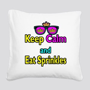 Crown Sunglasses Keep Calm And Eat Sprinkles Squar