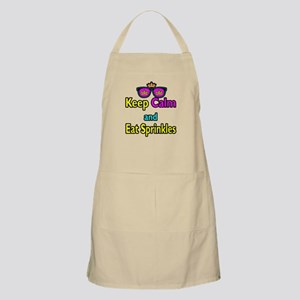 Crown Sunglasses Keep Calm And Eat Sprinkles Apron
