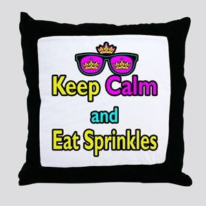 Crown Sunglasses Keep Calm And Eat Sprinkles Throw