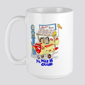 1/2 MILE-HI CLUB Large Mug
